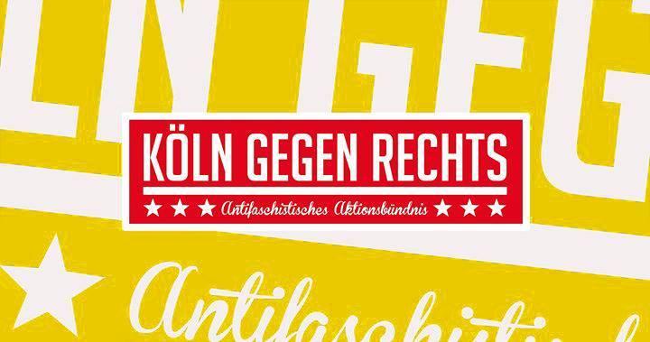 Banner von Köln gegen Rechts