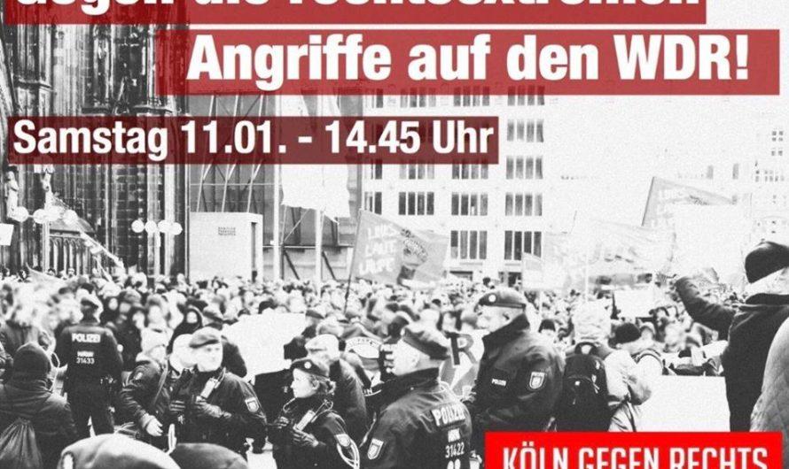 Kundgebung gegen rechtsextreme Angriffe auf den WDR