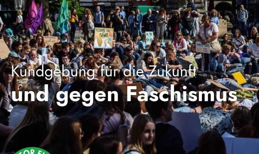 Kundgebung für die Zukunft und gegen Faschismus