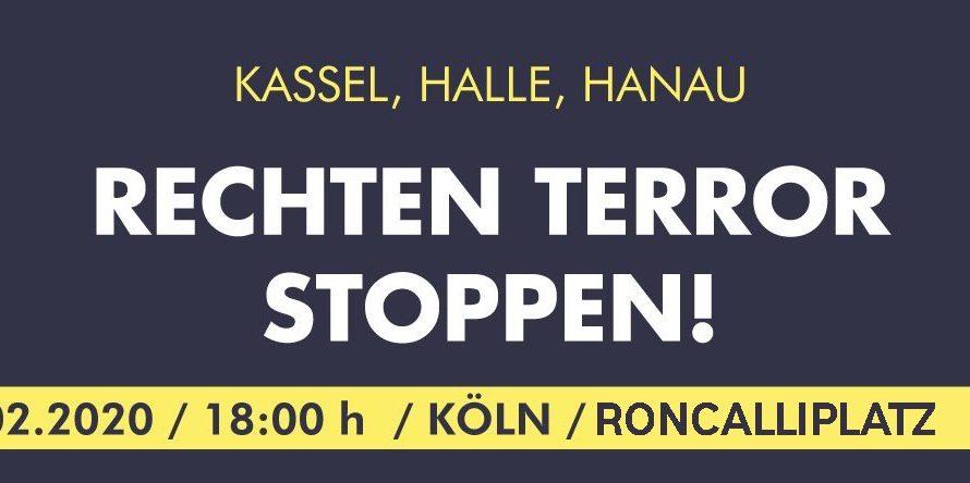 Solidarität mit den Angehörigen der Ermordeten und den Überlebenden des rassistischen Anschlags von Hanau