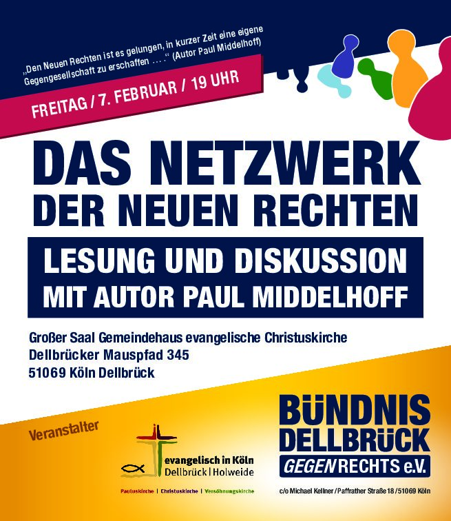 "Lesung ""Netzwerk der neuen Rechten"" in Dellbrück"