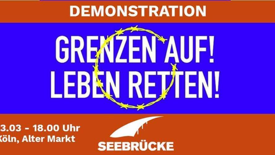 """Demo """"Grenzen auf! Leben retten!"""""""