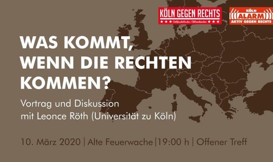 Vortrag und Diskussion: Was kommt, wenn die Rechten kommen?