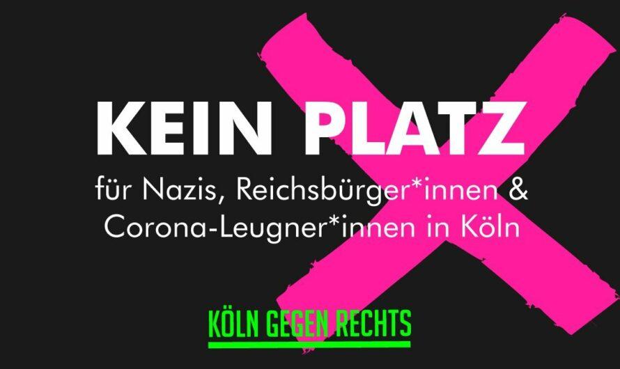 Keinen Platz für Nazis, Reichsbürger*innen und Corona-Leugner*innen in der Stadt