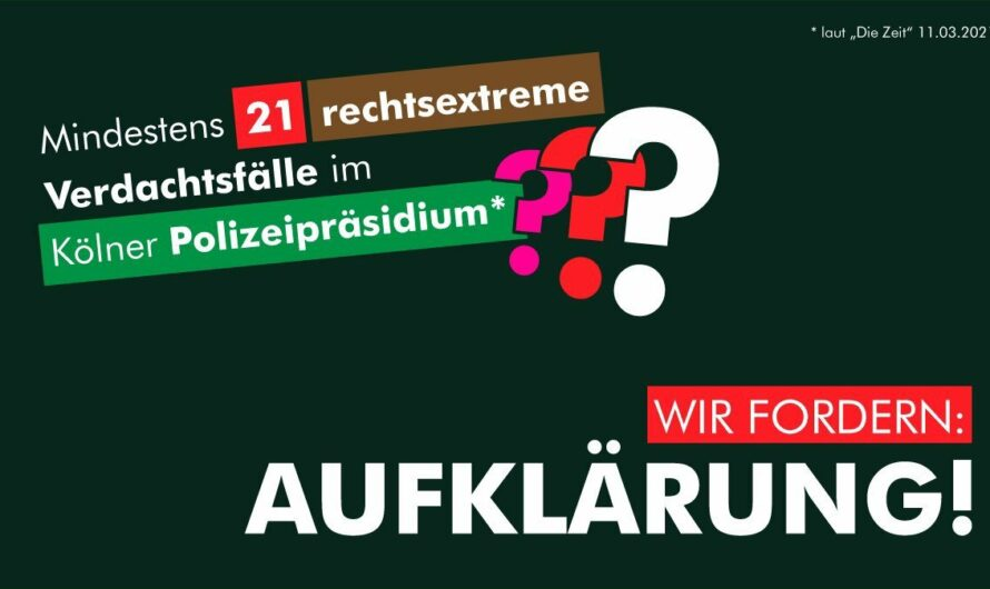 Mindestens 21 rechtsextreme Verdachtsfälle im Kölner Polizeipräsidium