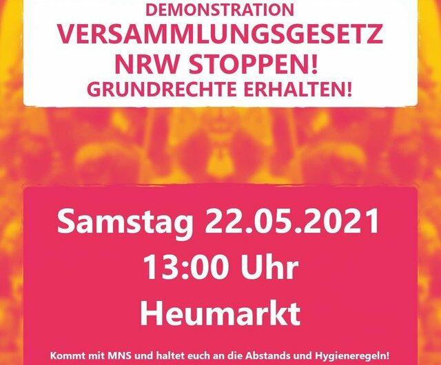 Demokratische Rechte verteidigen. Versammlungsgesetz NRW stoppen.
