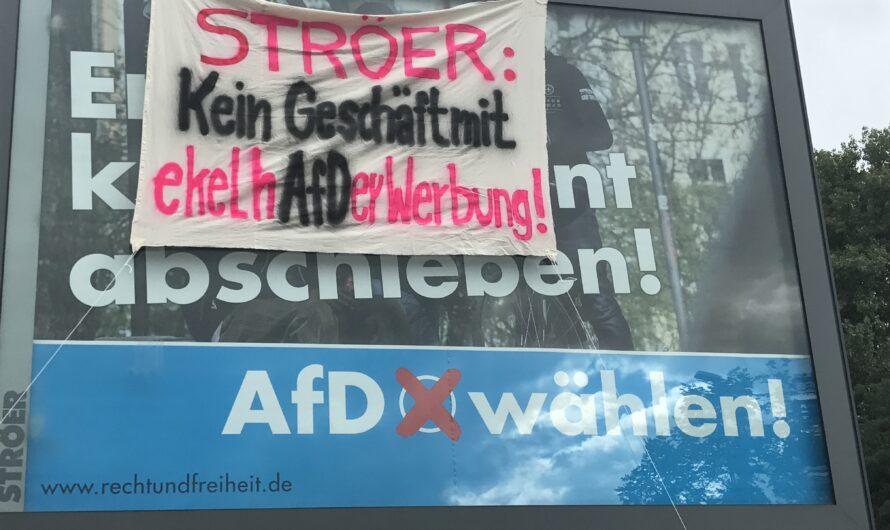 Kölner Konzern auf Abwegen: Ströer kündigt an Kampagnen gegen die AfD nicht zu unterstützen.