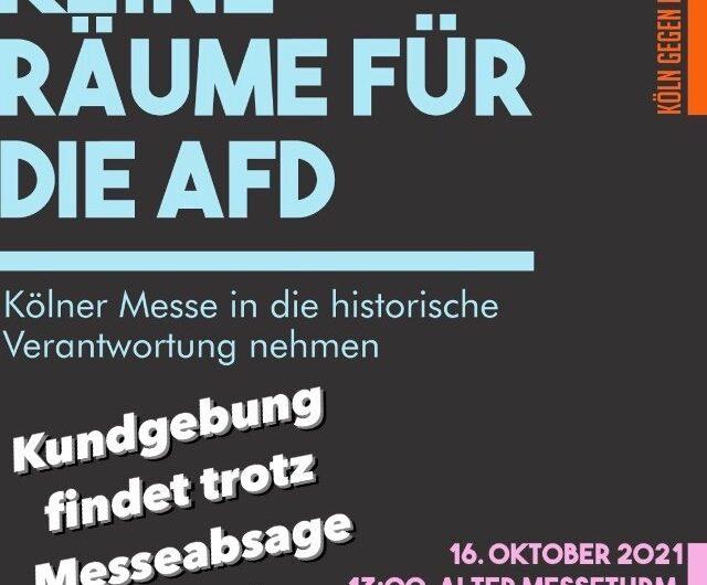 Kölner Messe sagt AfD vorerst ab